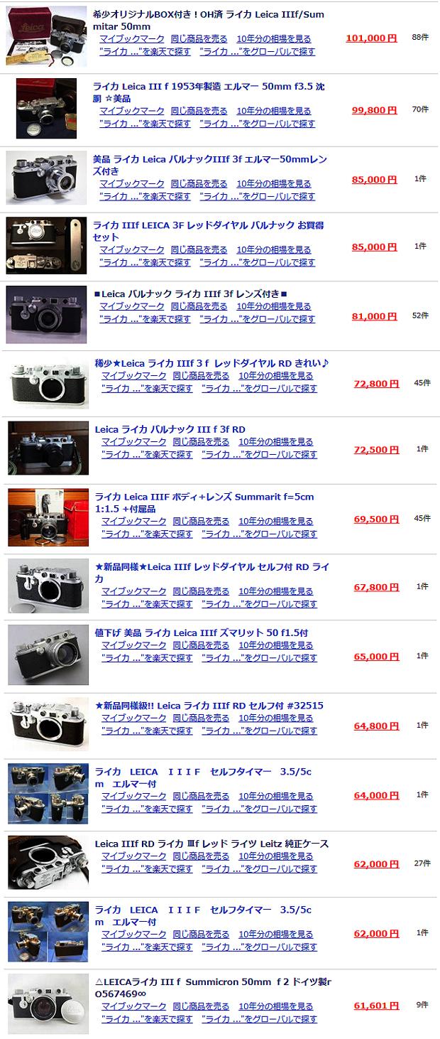 【Leica】ライカ IIIf セルフタイマー / Summicron ズミクロンレンズは 約 60 年以上経っても一眼レフ並に高額取引されるバルナックライカの完成形モデル