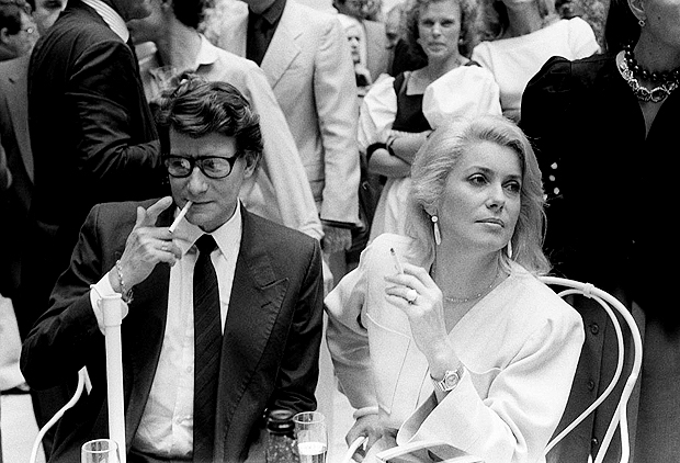Yves Saint-Laurent and Catherine Deneuve, 1983:link