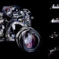 """【Nikon】ニコン""""F"""" 一眼レフフィルムカメラの美しい 5 つの透視図と設計図"""