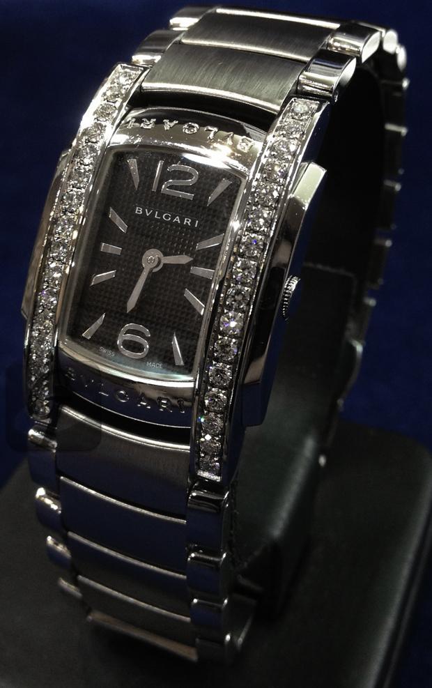 【BVLGARI】ブルガリ アショーマ ダイヤベゼル AA35 男性とのデート・シーンに最適なラグジュアリーモデル