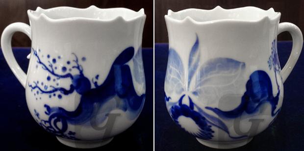 【マイセン 高額買取】Meissen ブルーオーキッド カップ・プレートは 東洋の神秘 を蘭で表現されたエキゾチックな高級食器