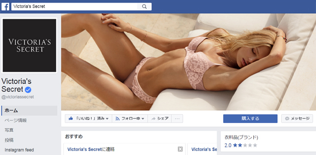 【Victoria's Secret】ヴィクトリアズ・シークレット:モデルという強力なコンテンツを武器にソーシャルメディア戦略でさらに拡大を狙う