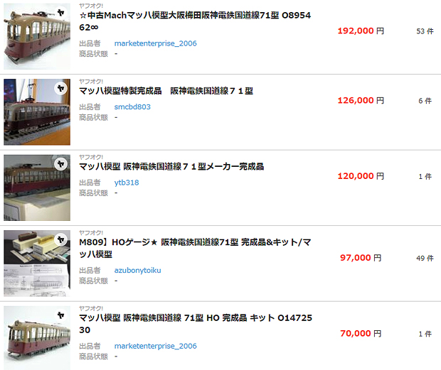 【鉄道模型買取】マッハ模型 阪神電鉄 国道線71型 金魚鉢は 古き良き時代を模型化した 稀少性の高い高額買取モデル