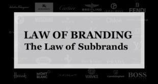 【ブランディング22の法則】サブブランドの法則:あなたがサブを必要とする時 ブランドを構築しているのではなく 市場を追いかけている時である