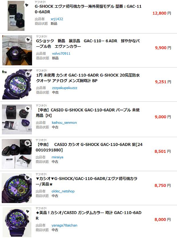 【CASIO:カシオ】G-SHOCK エヴァ GAC-110-6ADR 限定廃盤品 はマニア心をくすぐる希少モデル