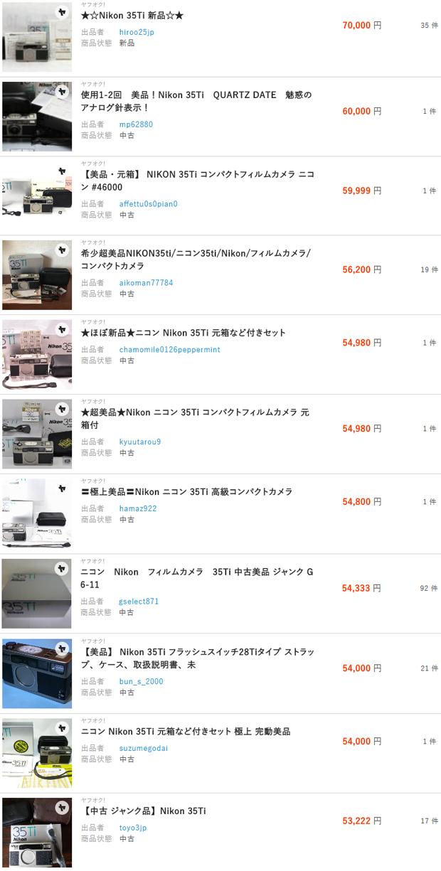 【Nikon】ニコン 35Ti 銀塩コンパクトフィルムカメラをレストアし約 4.4 倍程度で高額買取して分かった実は目立たない急成長市場