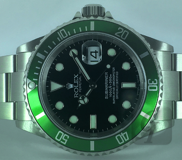 【Brand Shooting,Good Industrial design:Photo Collection】Rolex SUBMARINER Green FAT4 BIGSWISS Ref.16610LV