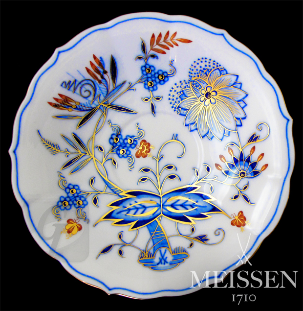 【Brand Shooting,Good Industrial design:Photo Collection】Meissen Color Onion Meister Painter Red & Gold