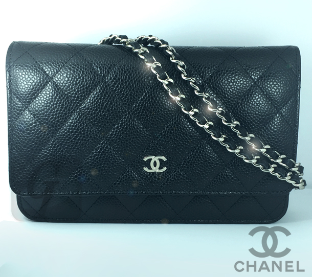 check out 2d0c1 078fe CHANEL】マトラッセキャビア チェーンウォレットは財布とバッグ ...