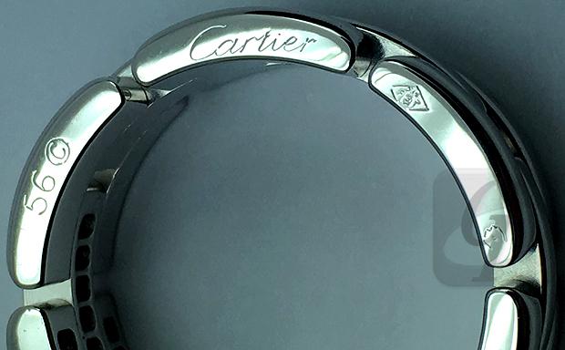 【Cartier】カルティエ 18KWG ダイヤモンド マイヨン パンテール ファインリング 3連ハーフパヴェはそれひとつで指先を美しく彩る優れたマストアイテム