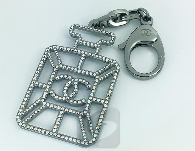 【CHANEL】 Coco Mark perfume bottle key ring シャネル ココマーク 香水ボトル キーホルダー