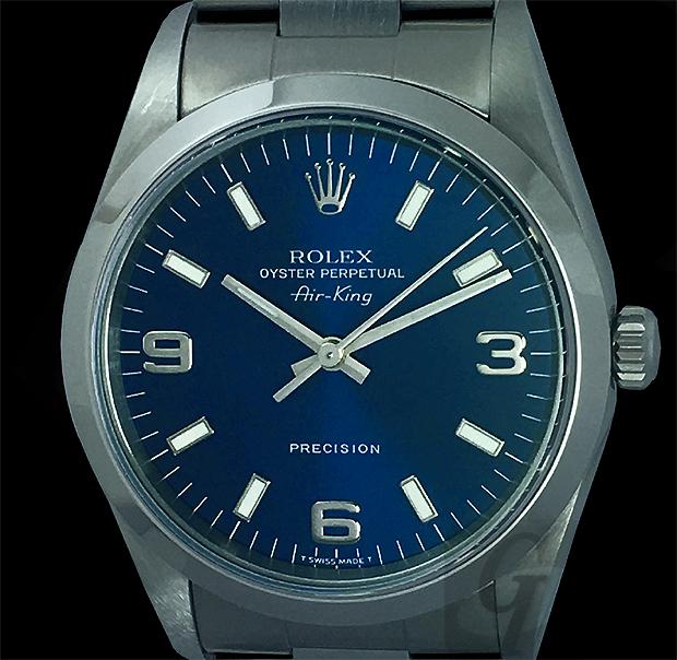 【ROLEX】ロレックス エアキング Air-King Ref.14000 は ロレックスブランドの入門機として シンプルで使いやすくリーズナブルで 実用時計の定番人気モデル