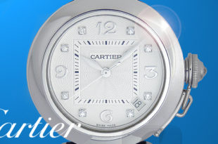 【Cartier】Pasha Automatic 18K White Gold 8P Diamond カルティエ パシャ ドゥ カルティエ オートマ 18K ホワイトゴールド 8 ポイントダイヤ