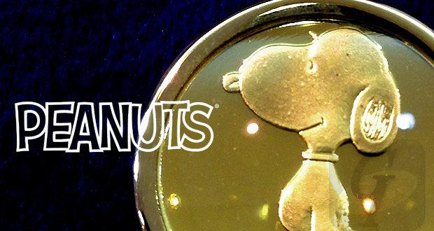"【Peanuts】スヌーピー ""K18""イエローゴールド コイントップ Snoopy ""K18"" Yellow Gold Coin Top"