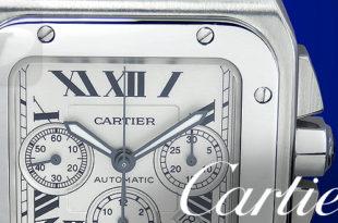 【Cartier】カルティエ サントス100 クロノグラフ Santos100 Chronograph W20090X8