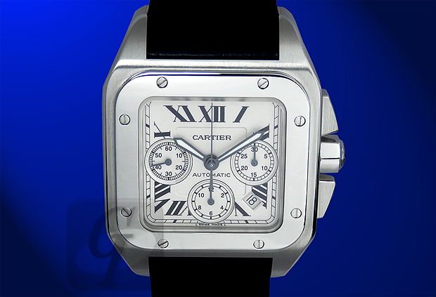 【Cartier】カルティエ サントス100 クロノグラフ Santos100 Chronograph は世界初の紳士用腕時計を継承している正統派モデル