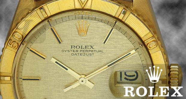 【ROLEX】デイトジャスト サンダーバードはゴールド製回転ベゼル搭載する不思議なヴィンテージモデル