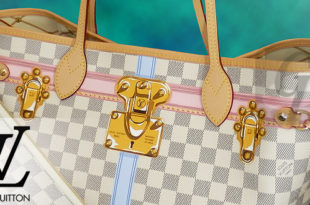 【LOUIS VUITTON】ルイヴィトン 2018 Summer Trunks Damier Azur Canvas Neverfull MM ダミエ・アズール ネヴァーフルMM N41065