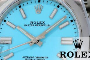 【Rolex】ロレックス オイスター パーペチュアル ターコイズブルー「Tiffany」124300 は 高騰し続ける稀少性高い大人気モデル